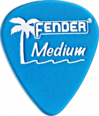 Fender California Clear Picks, 12 Pack, Thin, Surf