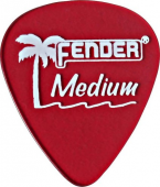 Fender California Clear Picks, 12 Pack, Medium, La